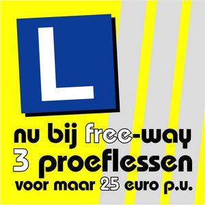 3 proeflessen voor 25 euro per uur